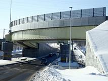 輪厚立体交差Cランプ橋(札幌開発建設部)