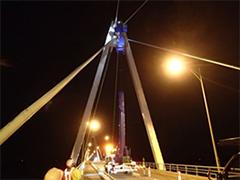 40m高所作業車による点検例
