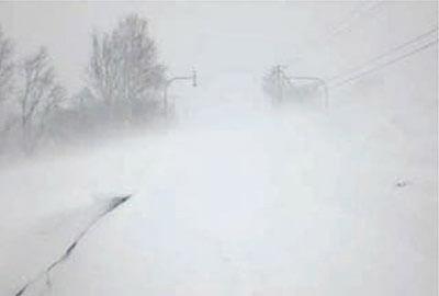地吹雪による視程障害