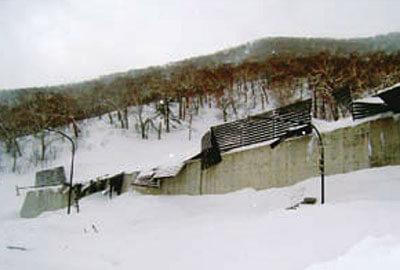 雪崩のデブリ