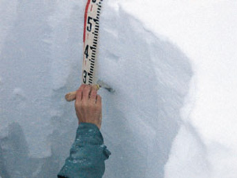 積雪断面調査